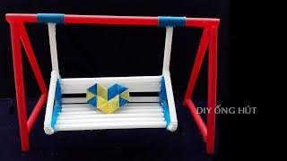 Sáng tạo Ống Hút - Cách làm xích đu bằng ống hút rất dễ thương | DIY Ống Hút