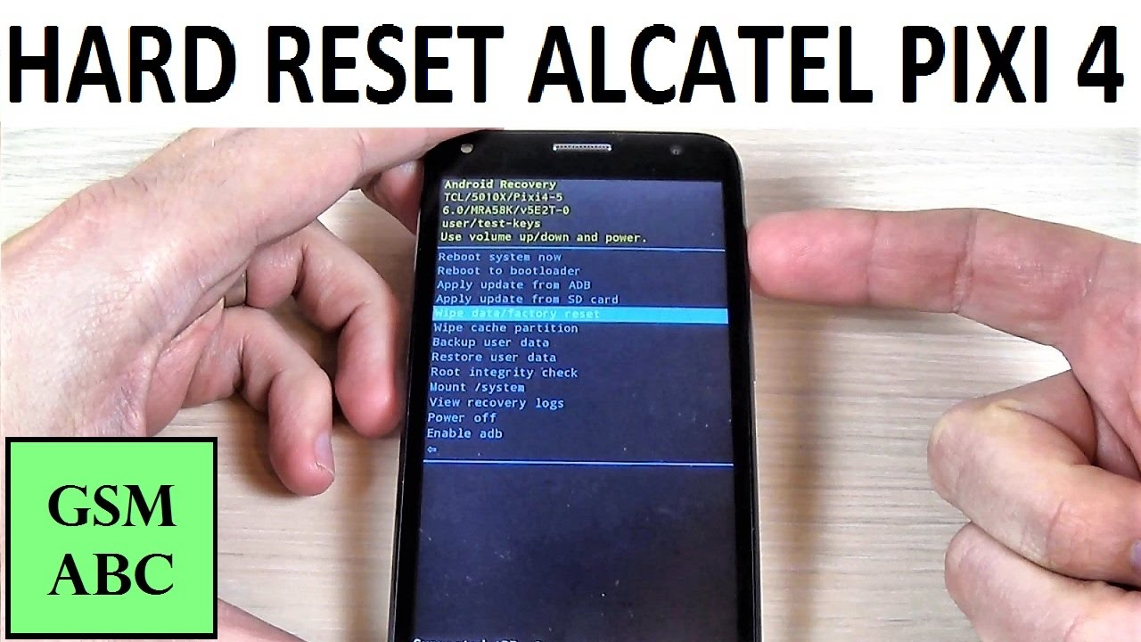 Как сделать сброс настроек на alcatel pixi 4 655