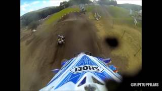 Huge Crash In Production A Class At Unadilla - Jordan Dummett's GoPro Footage - 2013 -