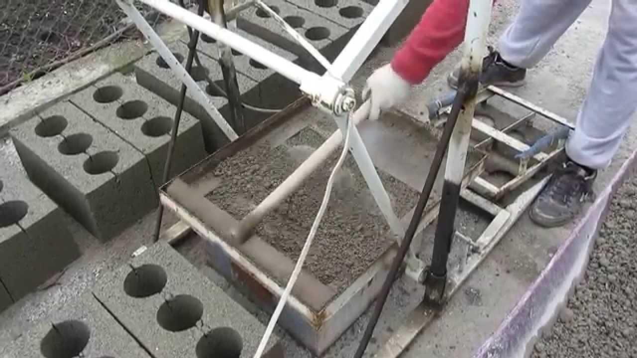 Как сделать станок для шлакоблоки