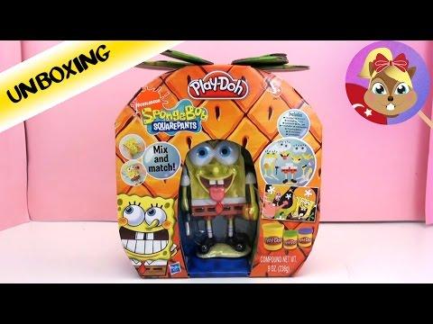 Play Doh oyun hamuru Sünger Bob Tanıtımı - Sünger Bob Oyuncagi - Spongebob Squarepants Mix And Match