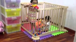 Cũi 3d xuất khẩu dùng làm sân chơi an toàn cho bé