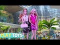 Barbie Doll Shopping Mall Adventure For Dresses, Shoes! Barbie Girl Drive Pink C