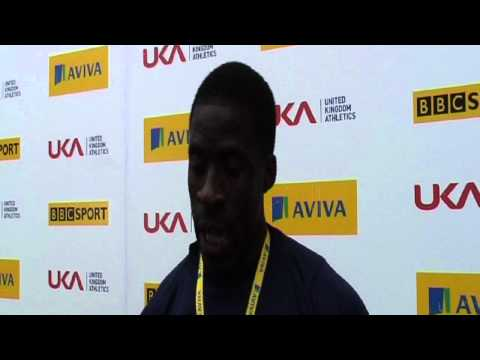 Aviva 2012 Trials - Dwain Chambers 100m Mens Final