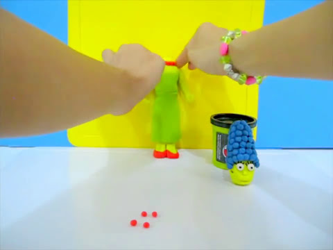 How to make Play-Doh Marge Simpson