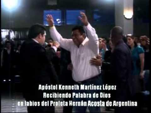 APOSTOL KENNETH MARTINEZ LOPEZ, RECIBE PALABRA DE DIOS EN LABIOS DEL PROFETA HERNAN ACOSTA.