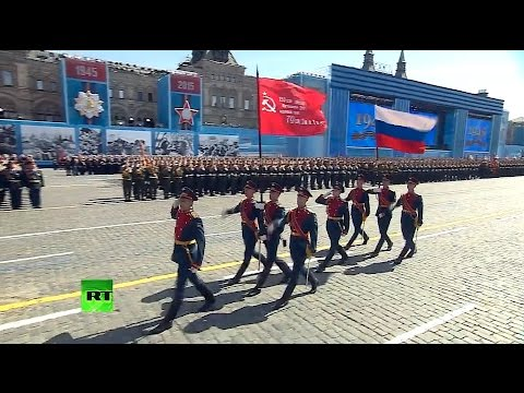 """The Sacred War"" Victory Day Parade on Moscow's Red Square 2015"