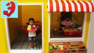 СУПЕРМАРКЕТ играем в магазин в продавца и покупателя. Детская касса