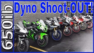 1000cc SuperBike Dyno SHOOT-OUT!
