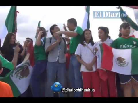 Festejan Chihuahuenses triunfo de México ante Croacia