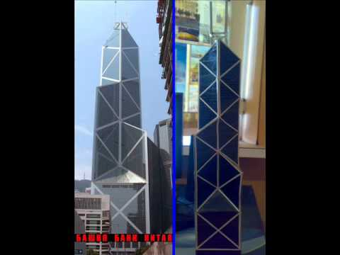 Bank of China Tower my hobbie self-made architectural models