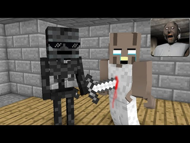 Monster School : GRANNY HORROR GAME CHALLENGE 2 - Minecraft Animation