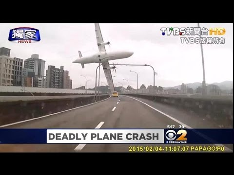 TransAsia Airways Plane Crashes Just After Take-Off In Taiwan