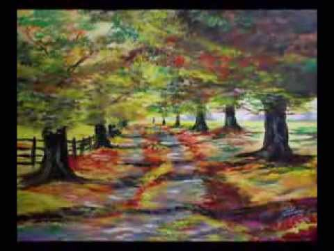 mes paysages d 39 automne olivier lemennicier artiste peintre sur toile peinture acrylique. Black Bedroom Furniture Sets. Home Design Ideas