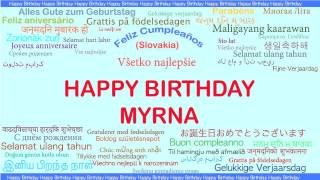 Myrna   Languages Idiomas - Happy Birthday