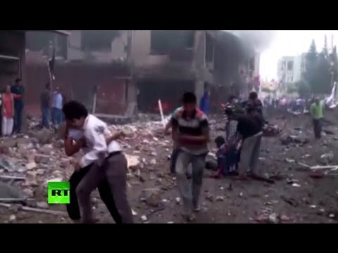 First video: Deadly explosions rock Turkey on Syrian border