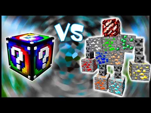Спиральный Лаки Блок VS Рудный Голем! - Лаки Битва #16