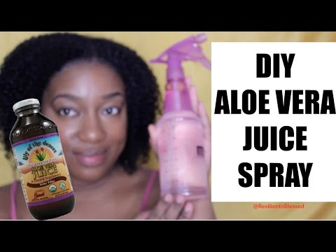 ♥DIY Aloe Vera Spritz & Demo for Natural Hair   ResilientnBlessed