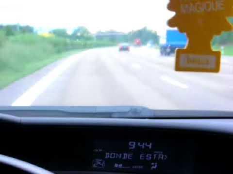Probando Honda Civic  en las autopistas de Alemania