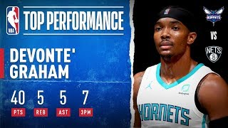 Devonte' Graham's CAREER-HIGH 40 PTS Lifts the Hornets in Brooklyn!