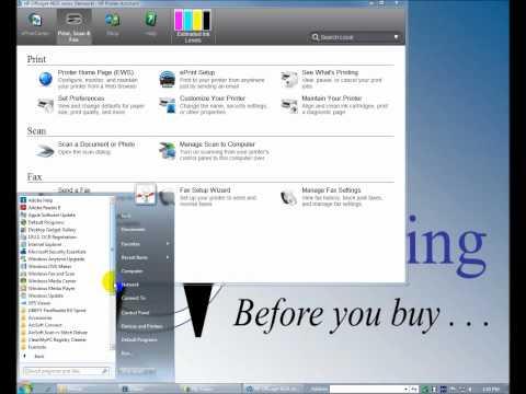HP Officejet 4620 Software & Network Installation