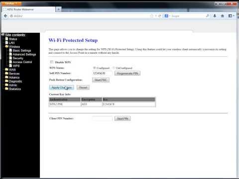 Configuración de modem Wifi Aba Router WA41R + DHCP
