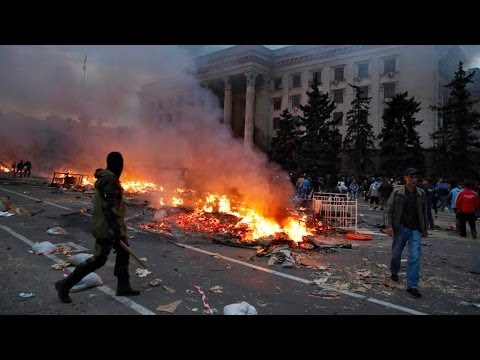 Breaking News : Dozens Die In Odessa Blaze As Ukraine Violenc [VIDEO]