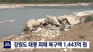 투/ 강원 태풍 피해 복구액 1천443억 원