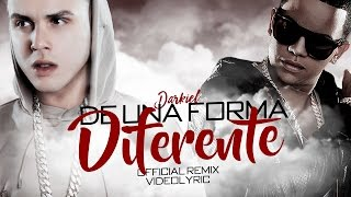 Darkiel Ft J Alvarez - De Una Forma Diferente Remix (Official Video Lyrics)