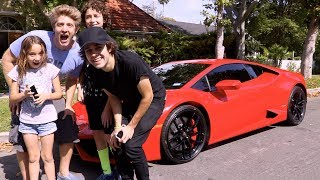 SURPRISING KIDS WITH LAMBORGHINI !!!
