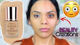 BEAUTY CREATIONS FOUNDATION - RESEÑA DE LA NUEVA BASE FLAWLESS STAY FOUNDATION -QUE COBERTURA OMG!😦