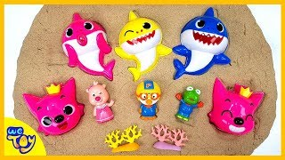 Pinkfong Baby Shark Playing in the Sand. Color for Children to Learn with Toy Cars | WeToy