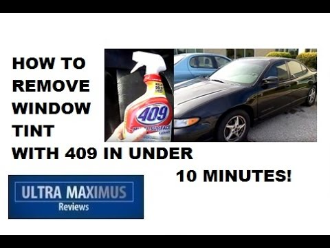 How to Remove Window Tint Easy with 409