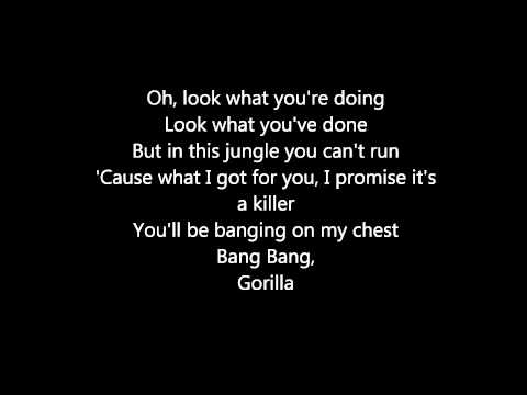 Bruno Mars - Gorilla Lyrics video