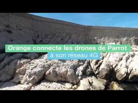 Bebop Drone proof of concept : flight over 4G network by Orange Telecom Operator (in French)
