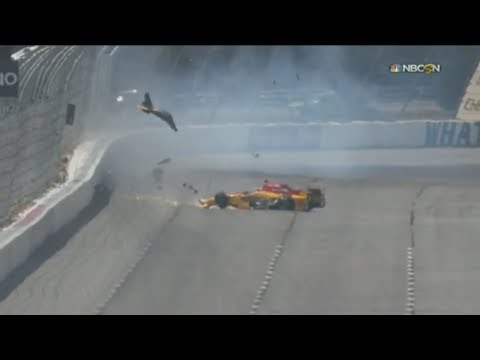 IndyCar Series 2017. Qualifying Pocono Raceway. Ryan Hunter-Reay Hard Crash
