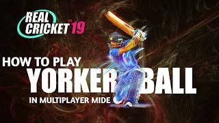 🔥 Real Cricket 19!! How To Play Yorker Ball In Multiplayer mode .
