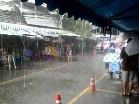 Rainy day In Sept at Chatuchak market Bangkok