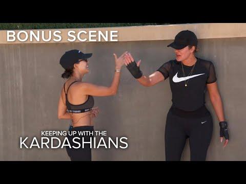 KUWTK | Khloe & Kourtney Kardashian Workout Hungover | E!
