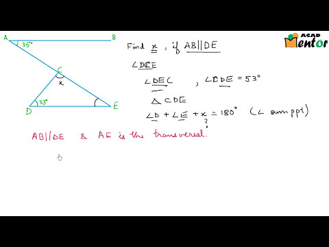 9.6.10 Angle sum of a triangle and external angle - Example 1 - Lines and Angles - Class 9 CBSE math