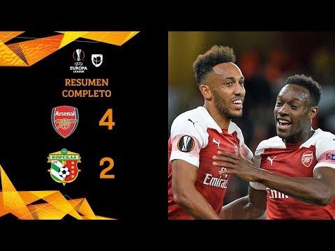 Arsenal 4-2 Vorskla Poltava - GOLES Y RESUMEN - Grupo E UEFA Europa League