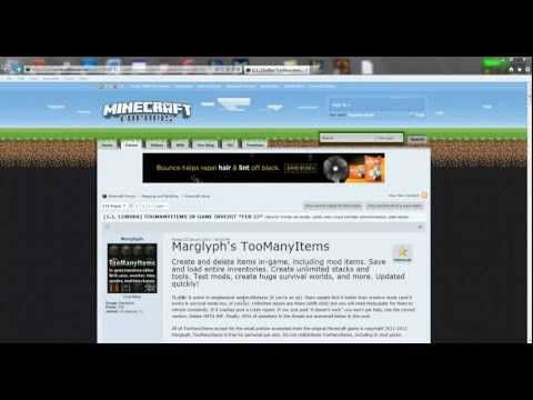 Minecraft 1.7.2/13w48b - too many items mod(cracked version)