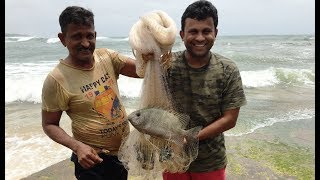 Dangerous FISHING at Mithbav Beach\Monsoon Days (Bandvashi Fish) Konkan
