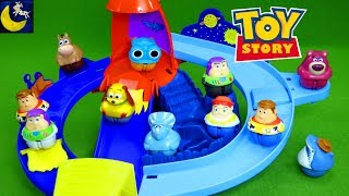 Toy Story Zing Ems Toys Rocket Rumble Playset Weebles Spaceship Buzz Lightyear Woody Lotso Kid Toys