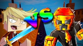 PRESTON VS LACHLAN (minecraft parkour race)