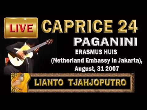Lianto Tjahjoputro (Live) -Caprice 24 - PAGANINI (guitar)