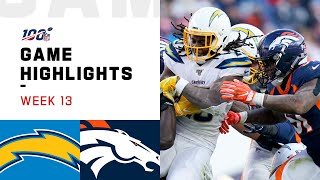 Chargers vs. Broncos Week 13 Highlights | NFL 2019