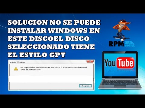 Solucion No Se Puede Instalar Windows En Este Disco El Disco Seleccionado Tiene El Estilo GPT