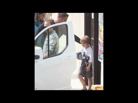 Newlyweds Brad Pitt and Angelina Jolie take their children bowling during working honeymoon in Malta