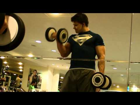 Under Armour Superman Alterego Biceps pumping and posing